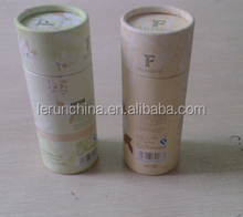 superior class fashionable high grade food grade paper tubes for gifts / food ,round cardboard tube