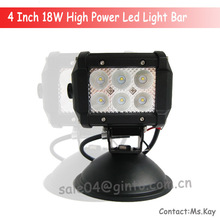 High quality remote control led light bar 18w cover for Jeep wrangler