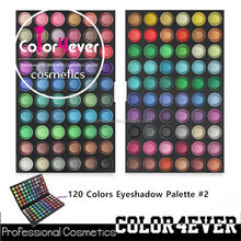 Professional 120colors factory eyeshadow palette cosmetics coconut oil