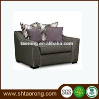 Custom made wooden fabric home theater recliner sofa