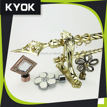 KYOK New design polished brass window curtain rod comptitive price ,window curtain models curtains rods