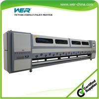Hot selling 5m WER SD 5308,Strong featuers wide format ,digital vinyl printing machines
