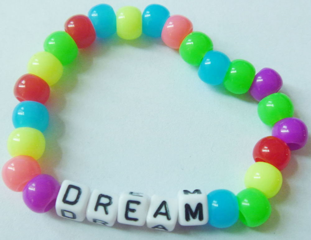 2015 Kids Jewelry Elastic Love Bracelet Candy Beads Diy