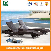 Hot selling folding reclining beach chair , rattan outdoor folding beach chair