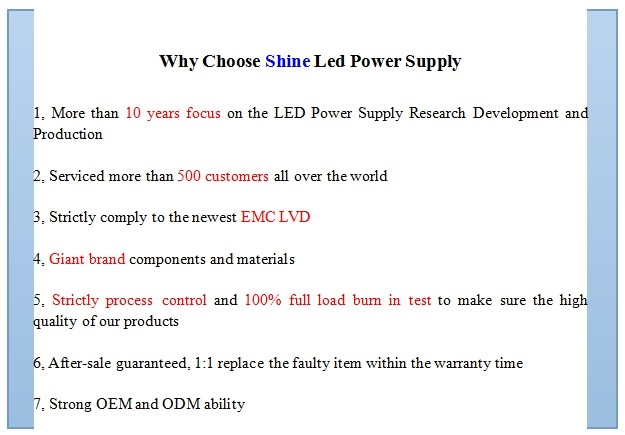 High quality CE RoHS EMC LVD 5050 smd led strip power supply, 220v 12v ac/dc led transformer, 12v led power supply 30w