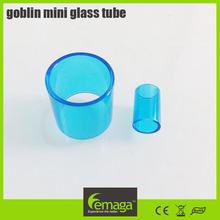 Lemaga 2015 new products heat resistant glass tube subtank mini replacement, rda tank 2015 goblin mini glass tube