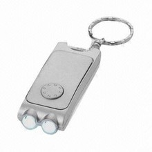 Top selling shinning light keychains 2 led light in various color