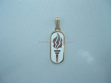custom oval gold charm pendant, decoration for necklace