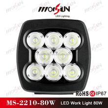 auto part cars trucks 80w led work light 80W for truck and 80W LED Off road light