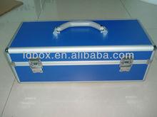blue aluminum tool case