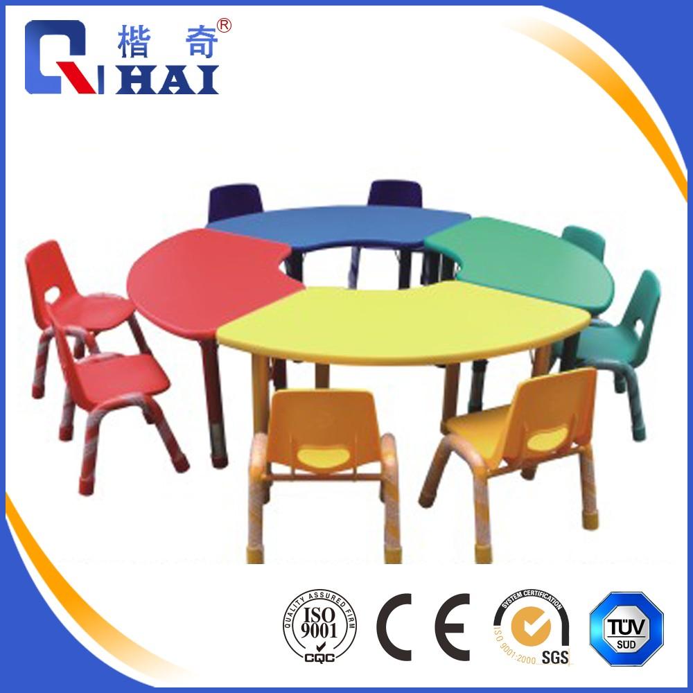 Escuela Infantil muebles 8 niños forma redonda mesa y sillas/jugar ...