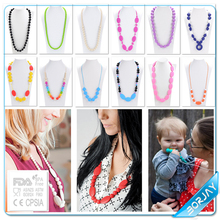 Trustworthy china supplier baby silicone teething brand necklace
