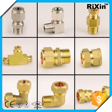 RX-1017 wholesale brass compression fittings manufacturers brass compression sleeve brass ferrule