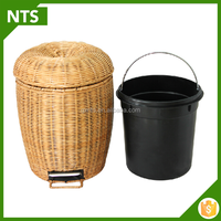 Handmade Wicker Basket New Design Waste Bin