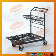 Nueva moda fuerte carga pesada plana de compras cesta