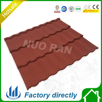 Construction Building Roofing Material classic type Stone Coated Red Color Metal Roof Tiles
