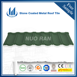 Grey stone Metal Roof Tiles/ High Quality factory direct Sand Coated Metal Roofing Tiles