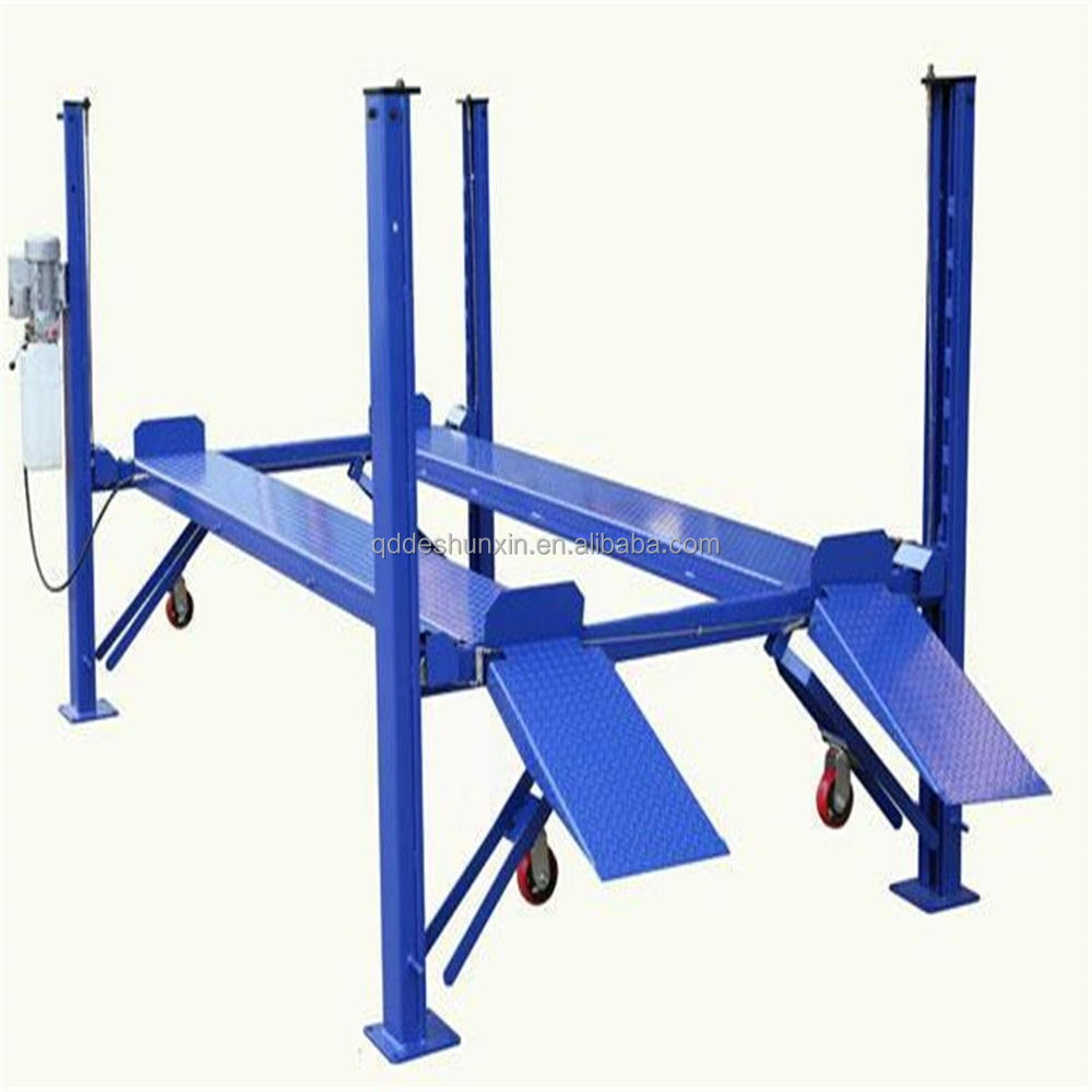 Hydraulic Lift Ramps : Four posts car ramp hydraulic lift for home garages or