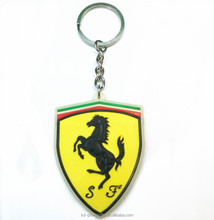 Customized Soft PVC Car Keychain Cheap Rubber Car Loge Keyring Brand Car Key Holder