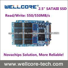 """Wellcore los SSD 2.5 """"SATAIII MLC SSD de 128 GB con novachips controlador de disco duro interno"""
