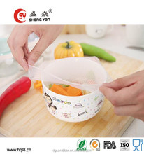 Newest design !! square shape silicone preservative cover set plastic wrap