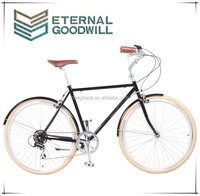 City bike GB3062 7 speeds or single speed vintage bicycle 700C retro city bike hot sale