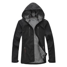pu waterproof breathable nylon no lining casual mens rain jacket
