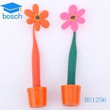 Advertisement cut plastic ball pen flower shape pen