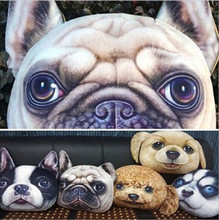 wholesale plush cushion ,dog face pillow,do your own design