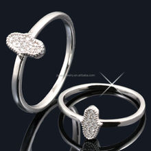 Wholesale 925 pure silver ring jewelry with CZ -- JR8628