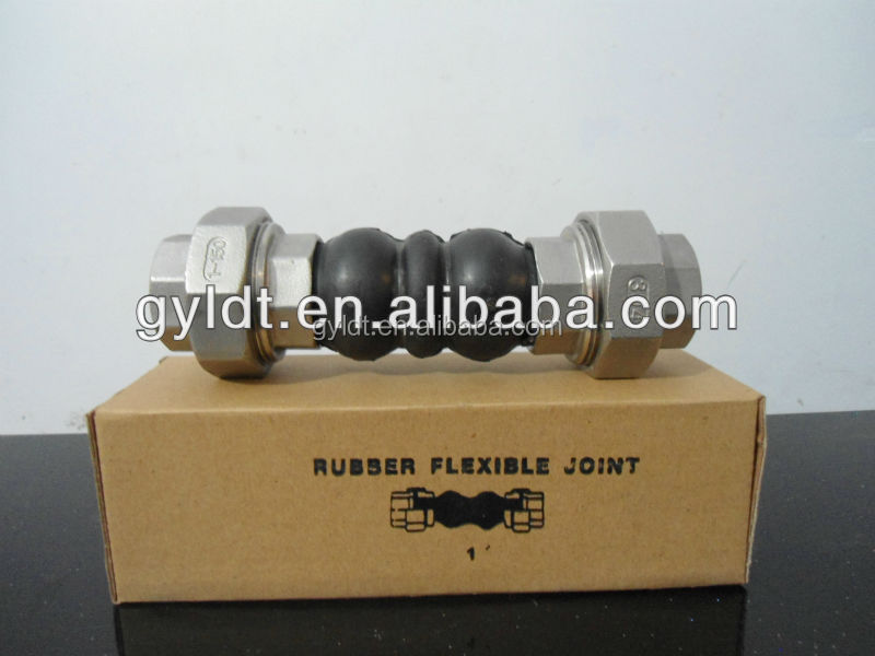 Screwed rubber pipe joints