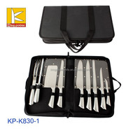 top quality 9 pcs hollow handle stainless steel kitchen knife set