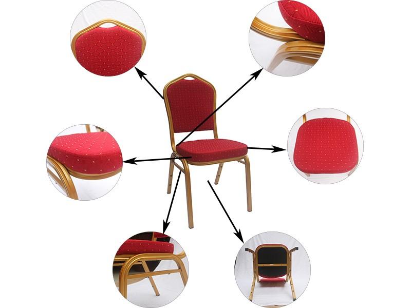 Оптовая Высокое качество Наращиваемых алюминия банкетный зал стул для гостиницы YF326