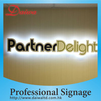 Stainless-Steel LED Lighting Letters Signs Back-lit LOGO