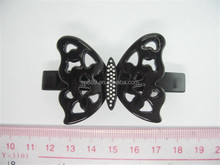 Bottom price factory directly supply crystal hair butterfly hairpin barrettes for thick hair