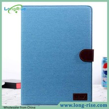 Jeans Cloth Skin Book Style for Samsung Note 10.1 2014 Edition Case with Card Holder and Photo Frame