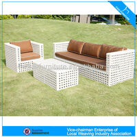 U fashion garden wicker sofa (4014)
