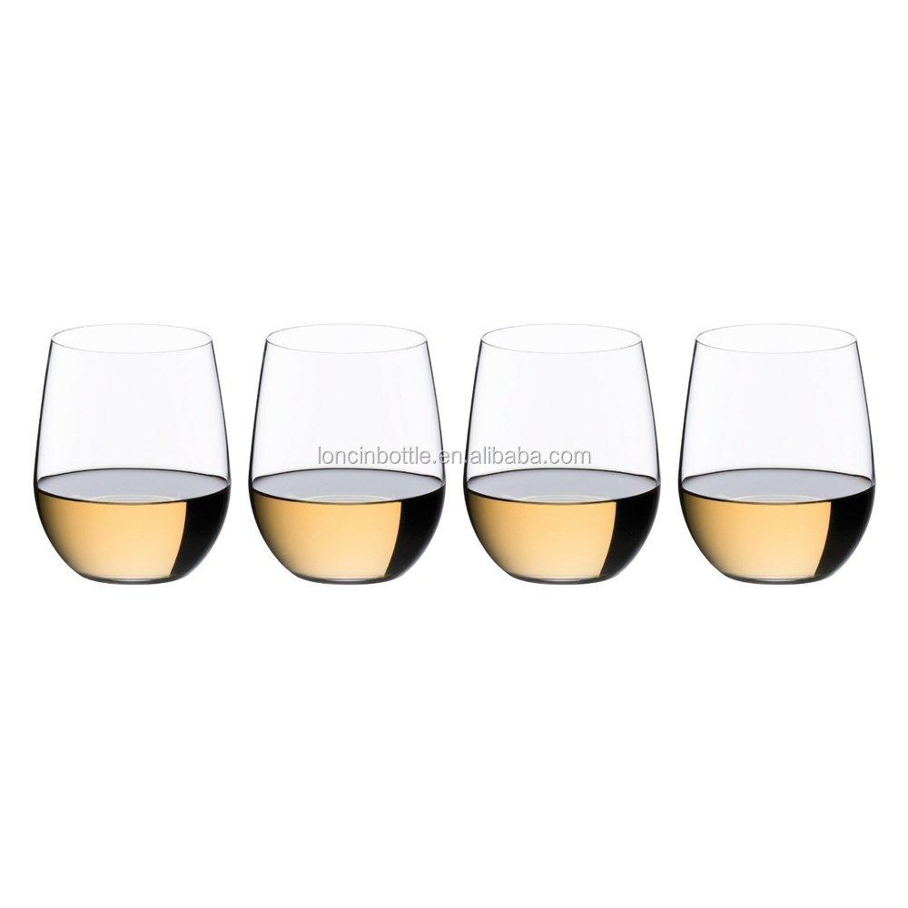 Silver glitte acrylic stemless wine glass tumbler plastic stemless wine tumbler with giltter - Insulated stemless wine glasses ...