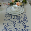 flocking organza fabric for table runner and flower wrapping