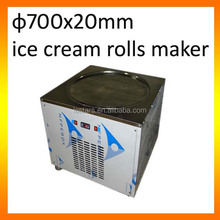 Rolled ice cream machine one big flat pan 700mm for shops/cart/truck business