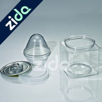 Square 600ml plastic jerry can snacks food plastic PET clear can
