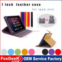 Factory Wholesale High Quality Leather Case for iPad Mini ,yellow ,pink red multi color case for ipad mini 2 /for mini 3
