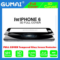Delicate Touch Tempered Glass real 3d tempered glass screen protector for iphone 6