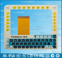 Emboss lcd display PC membrane keyboard switch