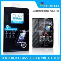 Tempered Glass Screen Protector for Drold razr maxx HD,safeguard screen protector
