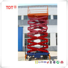 Hydraulic electric scissor lift aerial work platform construction high rise windows cleaning scaffolding tables
