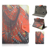 Cartoon Design For 7/8/10 inch Universal Tablet PC Case, spider-man PU Leather Cover That Can Folio Stand