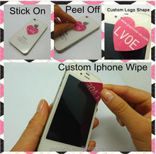 Microfiber mobile phone sticky cleaner / sticky mobile phone screen cleaner decoration