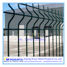 New product 3D 4.5mm PVC coated Curvy Garden Fence Panels