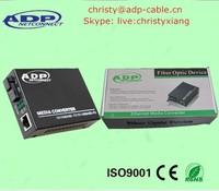 Best price 40km 10/100/1000M high quality single mode fiber media converter